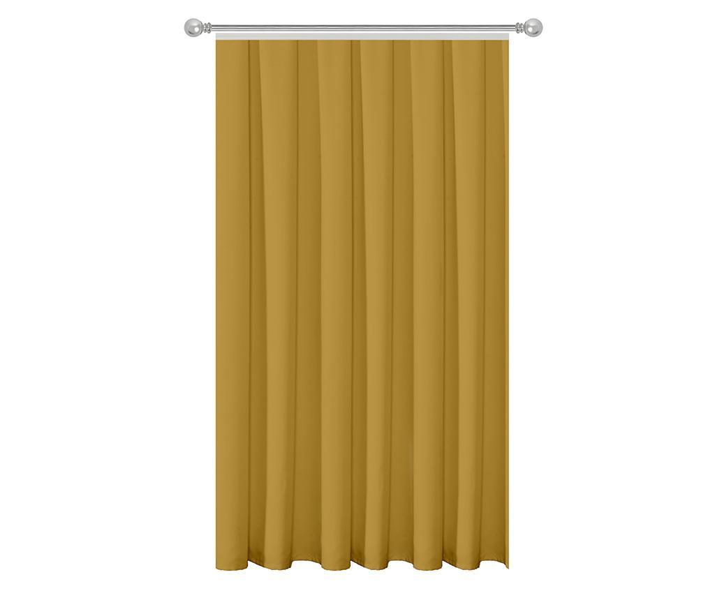Zastor Plain Mustard 140x270 cm