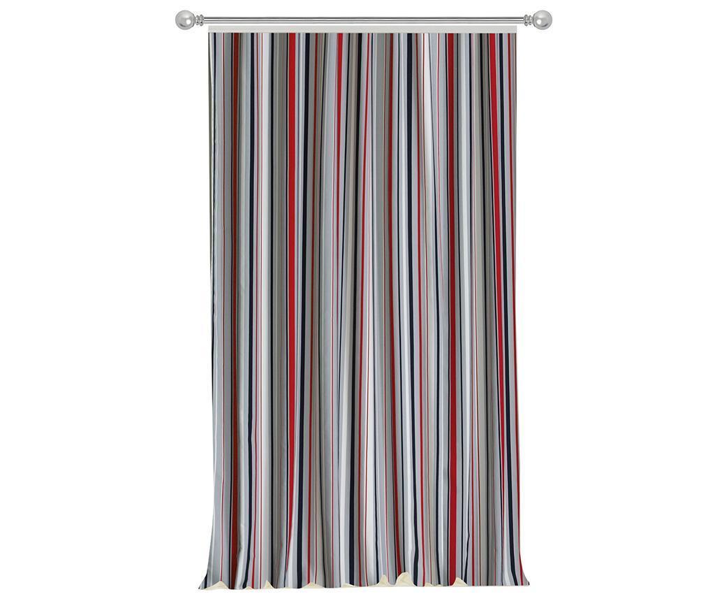 Stripes Red Grey Sötétítő 140x270 cm