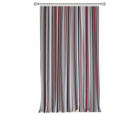 Zastor Stripes Red Grey 140x270 cm
