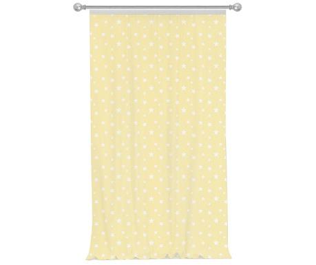 Draperie Stars Light Yellow 140x270 cm