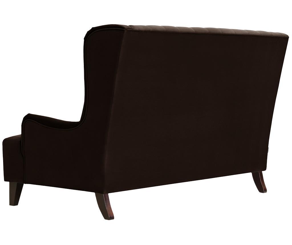 Canapea 2 locuri Flanelle Dark Brown