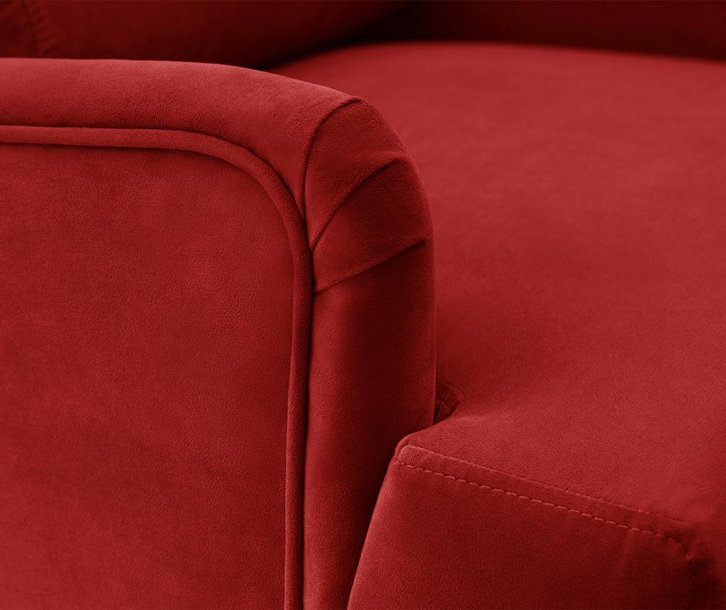 Canapea 2 locuri Flanelle Glamour Red