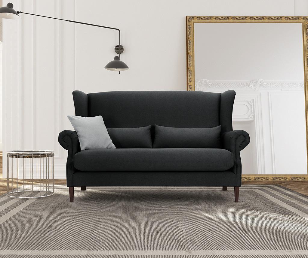 Canapea 3 locuri Alpaga Black