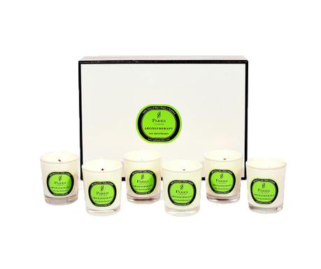 Set 6 dišečih sveč Parks Lime & Mandarin