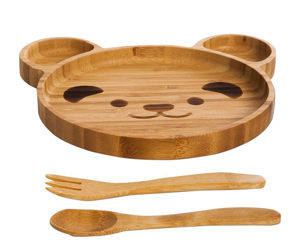 Teddy 3 darabos Étkészlet gyerekeknek
