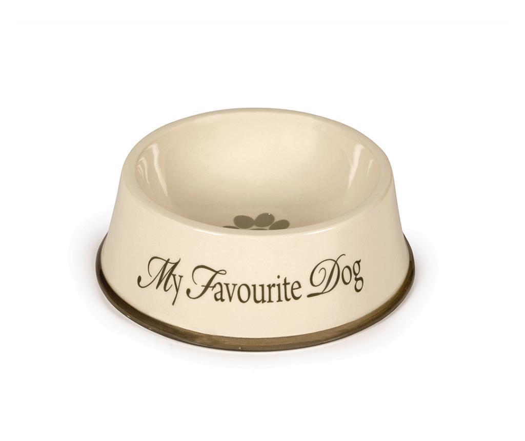 Skleda za pasjo hrano My Favourite Dog Cream 15 cm