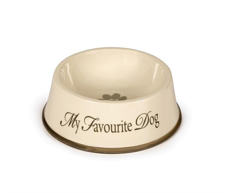 Zdjela za hranu za pse My Favourite Dog Cream 15 cm