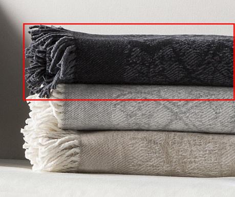 Pokrivač Eus Black 130x170 cm
