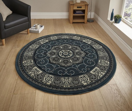 Covor Heritage Dark Blue Circle 150 cm