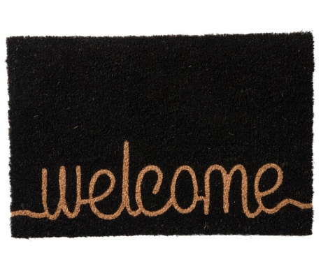 Welcome Black Bejárati szőnyeg 40x60 cm