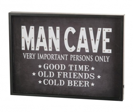 Nástenná svetelná dekorácia Man Cave