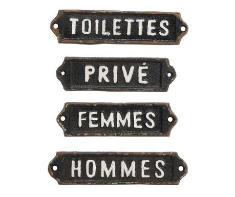 Set 4 decoratiuni de perete French Home