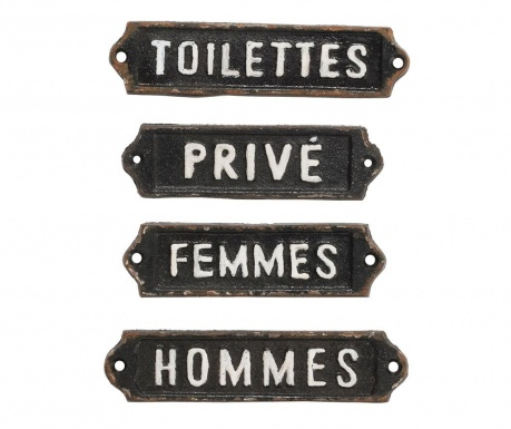 French Home 4 db Fali dekoráció