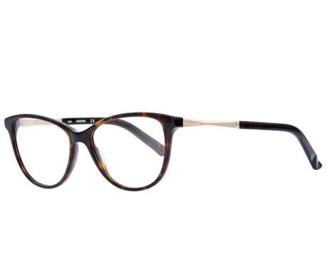 Swarovski Rectangular Havana Női szemüvegkeret