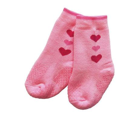 Чорапи с нехлъзгаща се подметка Hearty Pink