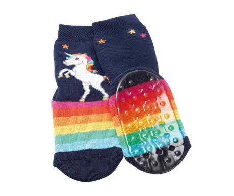 Čarape sa protukliznim potplatom Unicorn Rainbow