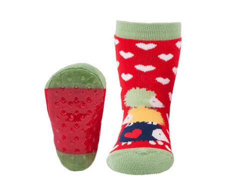 Чорапи с нехлъзгаща се подметка Hedgehog Family