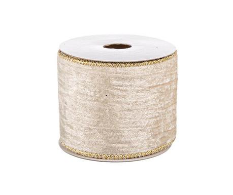 Ribbon Ivory Gold Dekoratív szalag