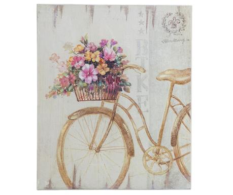 Antique Bicycle With Flowers Kép 25x30 cm