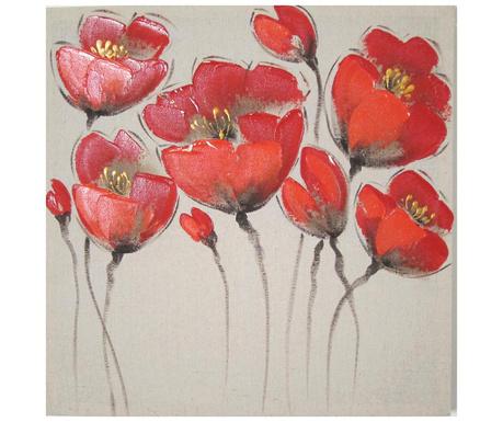 Poppy Flowers Festmény 50x50 cm