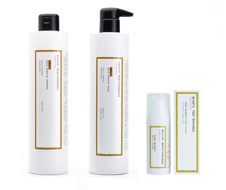 Keratin Elixir Gold Sampon, hajmaszk és hajolaj szett