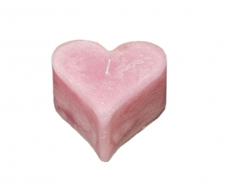 Sveča Rustica Heart Light Pink