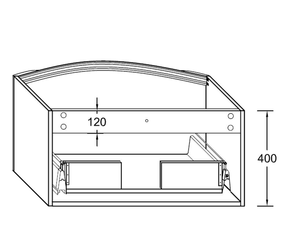 Tunio Mosdókagyló szekrénnyel