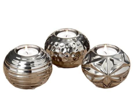 Set 3 svečnikov Shiney