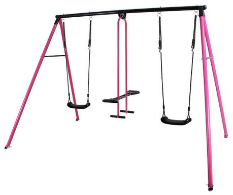 Leagan 3 locuri copii Can-Can Pink