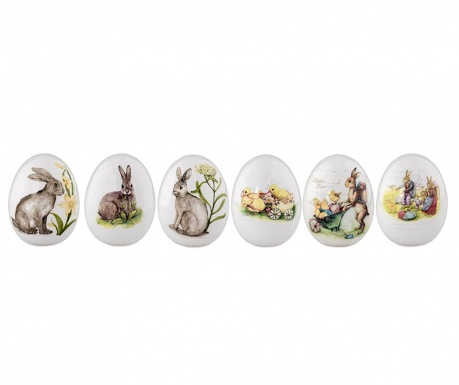 Set 6 decoratiuni Rabbit Decal