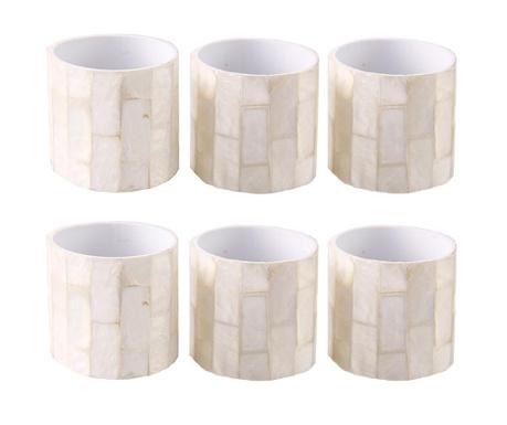 Комплект 6 пръстена за салфетки Neka