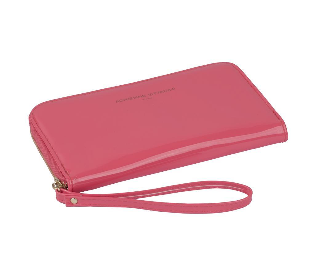 Peněženka s externí baterií Adrienne Vittadini Glossy Coral