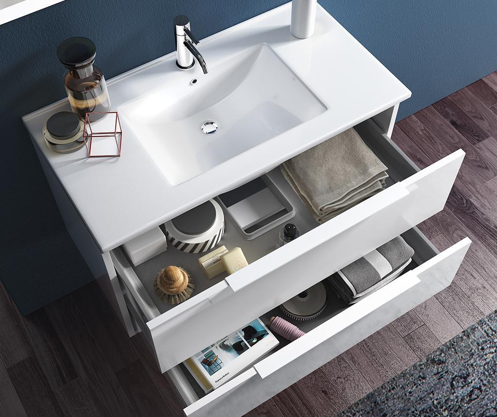 Czteroczęściowy zestaw mebli łazienkowych Luna Luke Wenge