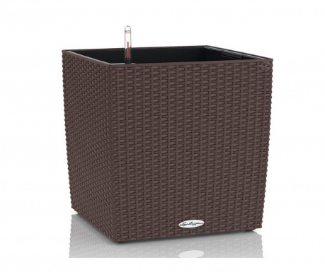 Set ghiveci cu sistem autoirigare si suport Cube Brown