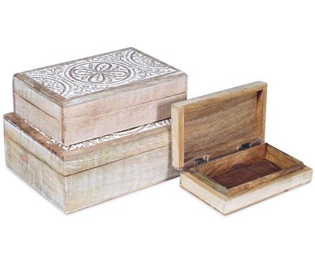Set 3 cutii cu capac Daina