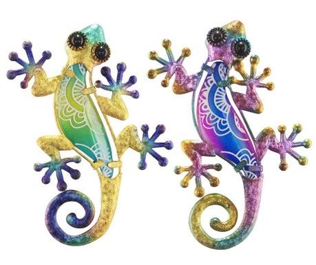 Set 2 decoratiuni de perete Lizard Dione