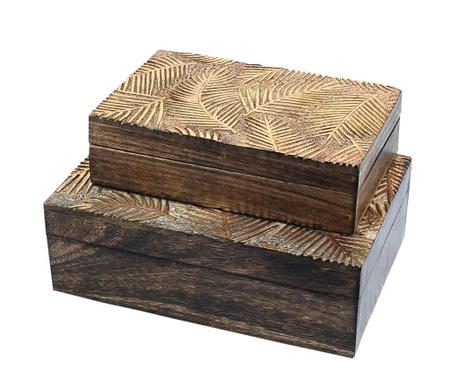 Set 2 cutii cu capac Muse Leaf