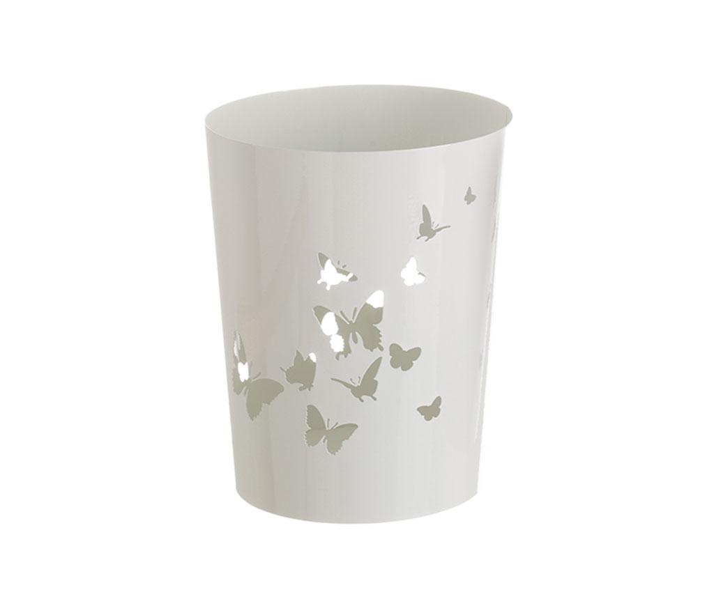Cos de gunoi Butterflies White