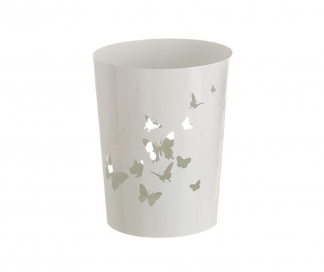 Cos de gunoi Butterflies White