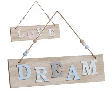 Love and Dream 2 db Fali dekoráció