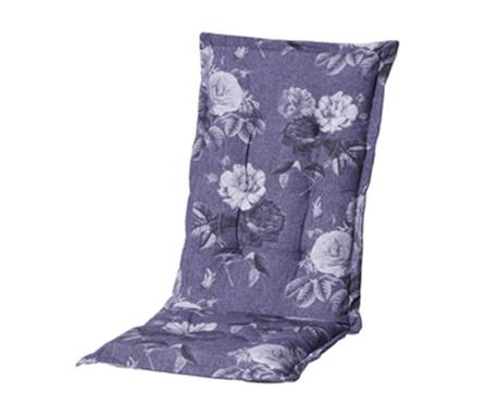 Sedežna in naslon blazina Denim Flower Blue
