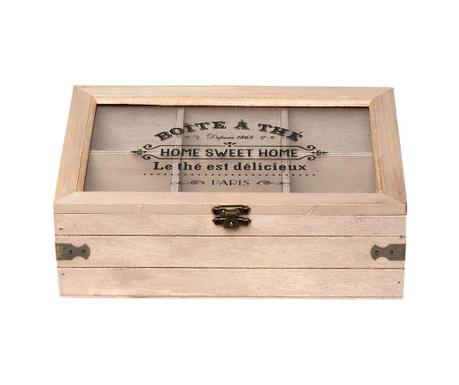 Krabica s vekom na čaj Home Sweet Home