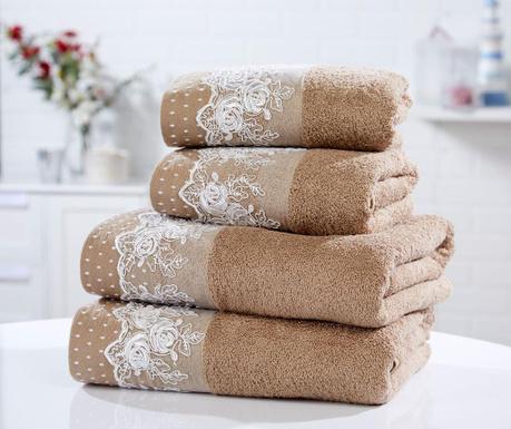 Sada 4 ručníků Chantilly Latte