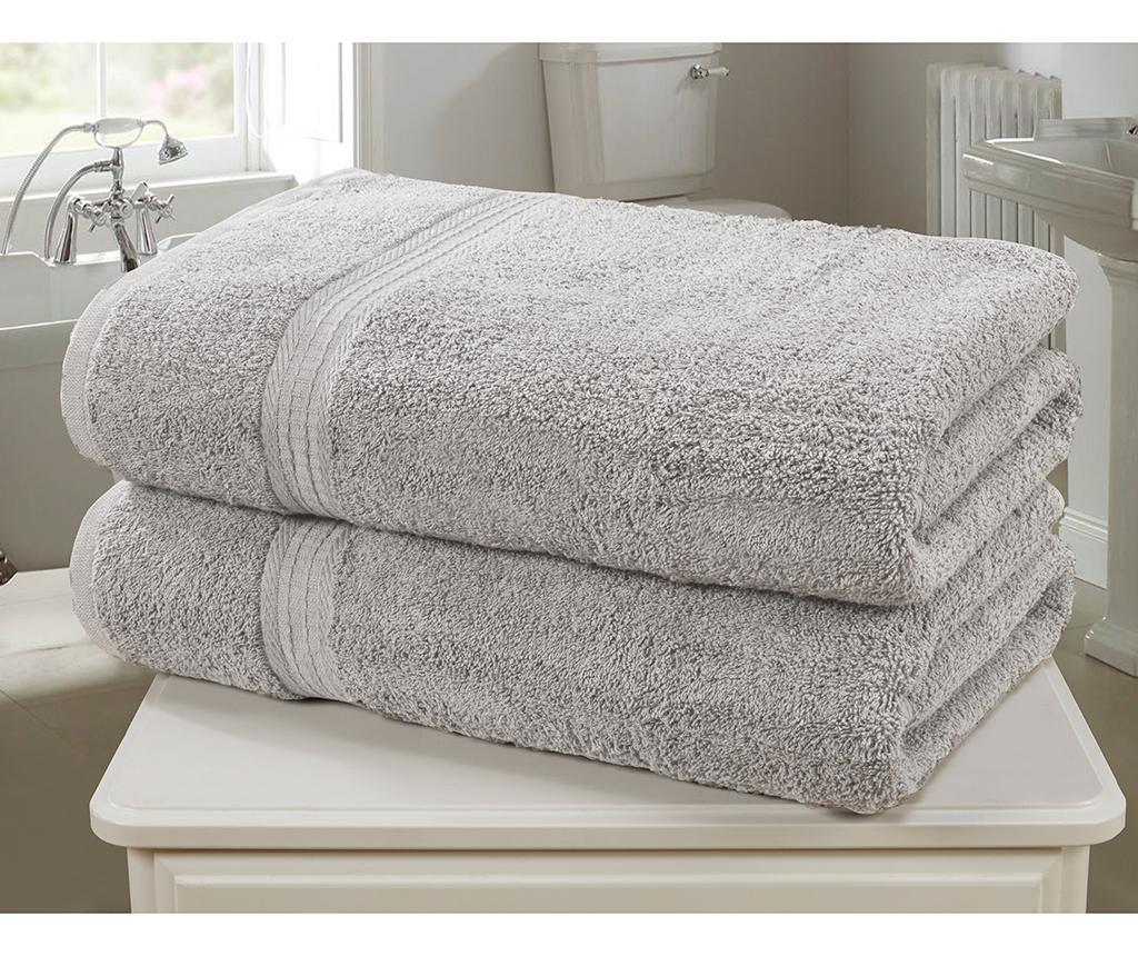 Set 2 kupaonska ručnika Royal Kensington Silver 90x140 cm