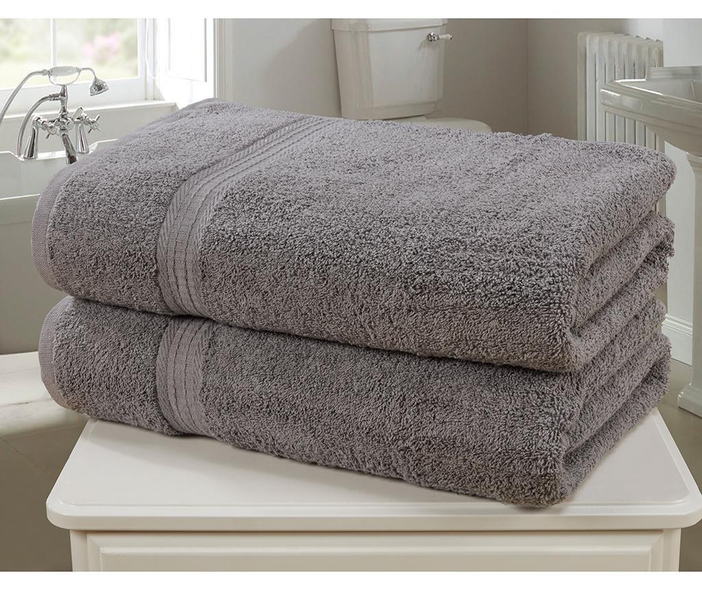 Set 2 kupaonska ručnika Royal Kensington Charcoal 90x140 cm