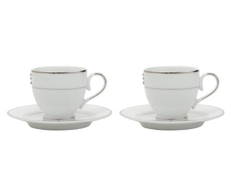 Сервиз 2 чашки и 2 чинийки Trilogy Platinum