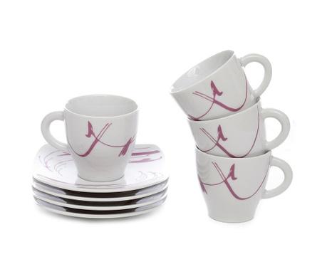 Сервиз 4 чашки и 4 чинийки Leila