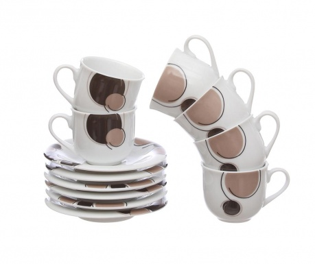 Сервиз 6 чашки и 6 чинийки Cerky Nero