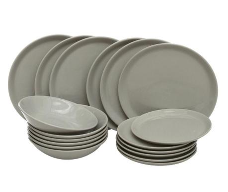 Сервиз за хранене 18 части Hitit Grey