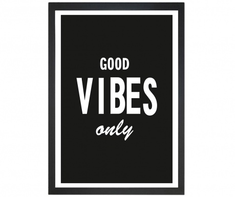 Картина Good Vibes Only 24x29 см